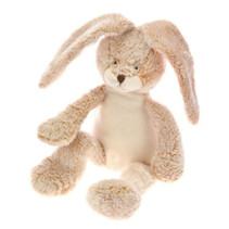 knuffel konijn zittend pluche 19 x 29 cm crème