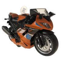 motor jongens 12 cm die-cast aluminium oranje/zwart
