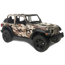 jeep Military Wrangler 13 cm 1:34 die-cast bruin