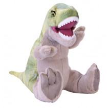 knuffel Dinosauria T-Rex Sound 30 cm pluche groen