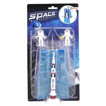 ruimte raket en astronauten 15 cm wit