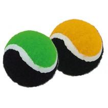 vangspelballen 2 stuks oranje/groen