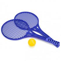 tennis set Softee 53 cm paars/geel 3-delig