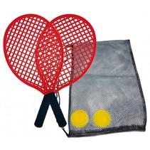 tennisset 39,5 cm rood 5-delig