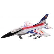 straaljager F-16 Typhoon jongens 20 cm wit/rood/blauw
