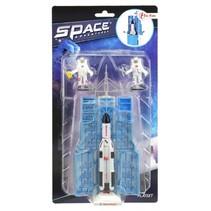 ruimte raket en astronauten 15 cm zwart