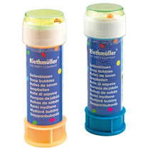 bellenblaas junior 60 ml blauw/oranje 2 stuks