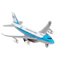 Metalen Vliegtuig Met Geluid en Licht 18,5 cm Blauw-Wit
