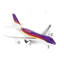 Metalen Vliegtuig Met Geluid en Licht 18,5 cm Paars