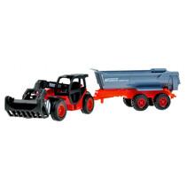 tractor met aanhanger 72 cm junior rood/zwart