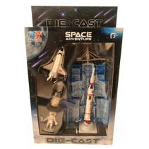 speelset Space Adventure jongens 12 cm wit 4-delig