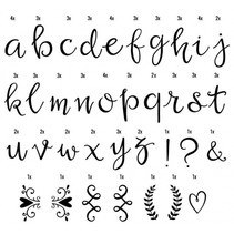 lightbox letterset junior 6,5 cm zwart 85-delig