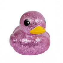 badeend Mega Glitter meisjes 20 cm rubber paars