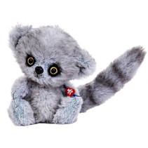 knuffelmaki Nico junior 17 cm pluche grijs
