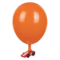 ballonauto PhänoMINT 10,8 cm hout/latex rood 5-delig