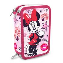 etui Minnie Mouse meisjes roze/rood 40-delig