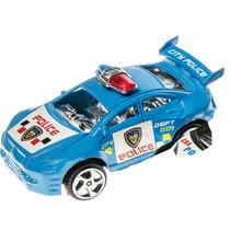politieauto junior 8 cm blauw