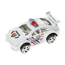 politieauto junior 8 cm wit