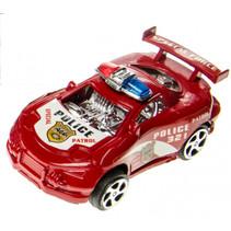 politieauto junior 8 cm rood