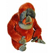 knuffel orang-oetan junior 76 cm pluche oranje/grijs
