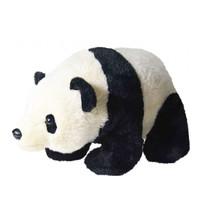 knuffel panda 38 cm junior pluche zwart/wit