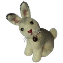 knuffelkonijn Miniatuur Ailis 9 cm pluche grijs/wit