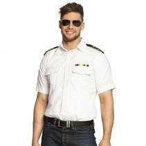 Captain shirt heren wit