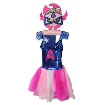 Super Hero jurk A meisjes blauw/roze