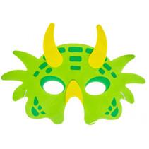 masker dino junior 21 x 16 cm karton groen/geel