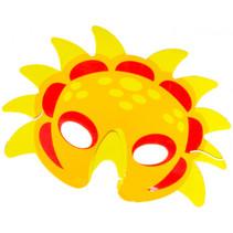 masker dino junior 21 x 16 cm karton geel/rood