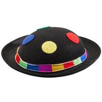 hoedje Clown 26 cm vilt zwart one-size