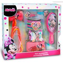 haarborstel en speldjes Minnie Mouse meisjes roze 18-delig