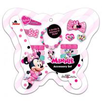 haarborstel en speldjes Minnie Mouse roze 14-delig