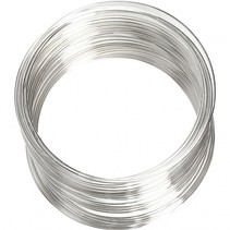armband Memory Wire staal 11,5 / 6 cm zilver per stuk