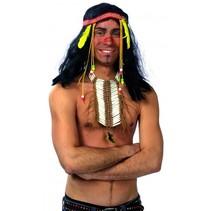 indianenketting unisex wit/bruin one size