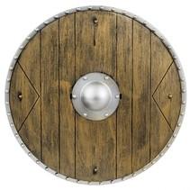 ridderschild 40 cm bruin