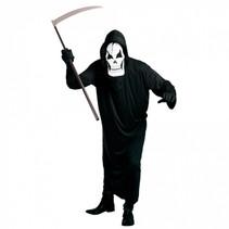 kostuum Magere Hein heren polyester zwart/wit 3-delig
