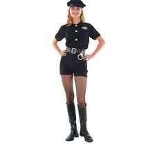 kostuum Politie dames polyester zwart 4-delig