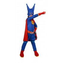 kostuum super Masha meisjes polyester blauw