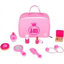 make-upset meisjes 24,5 cm hout/polyester roze 10-delig