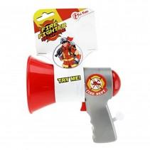 megafoon politie rood 14 cm