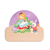 naambord Alice in Wonderland junior 12 x 17 cm hout