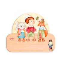 naambord Pinokkio junior 12 x 17 cm hout
