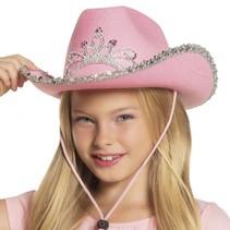 kinderhoed Glimmer meisjes one size roze