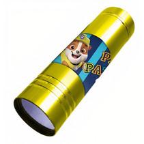 zaklamp Paw Patrol led jongens 9 cm staal goud