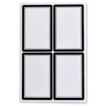 schooletiketten 35 x 52 mm wit/zwart 5 vellen à 4 stuks