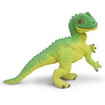 baby-Allosaurus junior 5 cm rubber groen/geel