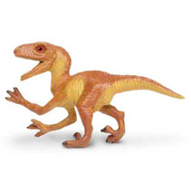 baby-Velociraptor junior 5 cm rubber bruin