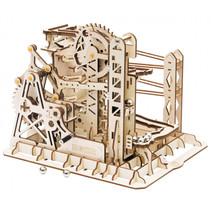 bouwset knikkerbaan Explorer 25 cm hout bruin 260-delig