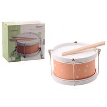 trommel junior hout/staal wit/roze 3-delig